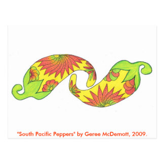 South Pacific Peppers Postcard