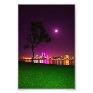 South Perth Foreshore Perth City Lights Skyline Photo Print