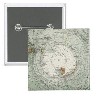 South Polar Region Map 2 Inch Square Button