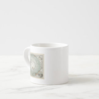 South Polar Region Map Espresso Mug
