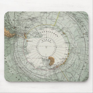 South Polar Region Map Mouse Pad