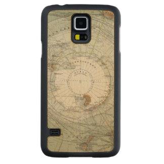 South Polar Region Map Maple Galaxy S5 Slim Case