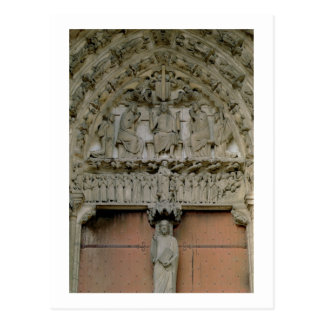 South Portal tympanum depicting Christ Enthroned w Postcard