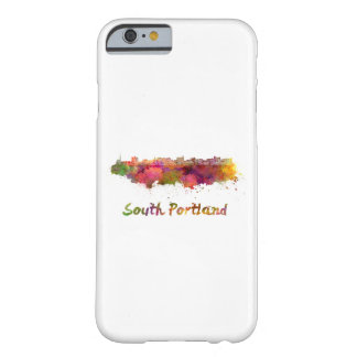 South Portland skyline in watercolor Barely There iPhone 6 Case