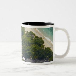 South Sea Island, Mamanuca Islands, Fiji Two-Tone Coffee Mug