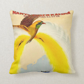 South Sea Mail Travel Poster Throw Pillow