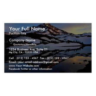South Sister, Three Sister Wilderness, Oregon, U.S Business Card Templates