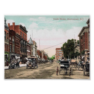 South Street, Morristown NJ, Vintage Poster