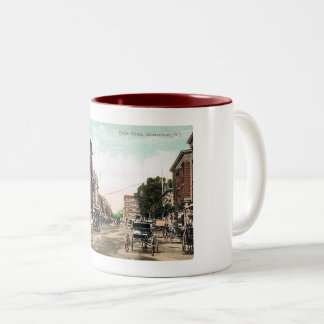 South Street, Morristown NJ, Vintage Two-Tone Coffee Mug