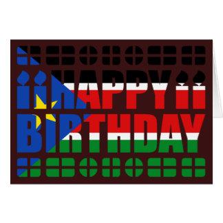 South Sudan Flag Birthday Card