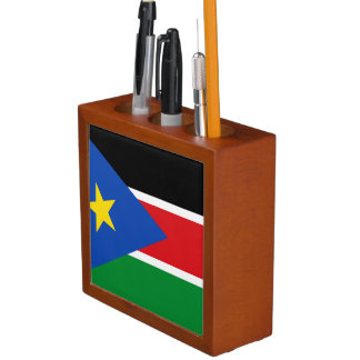 South Sudan Flag Desk Organizer