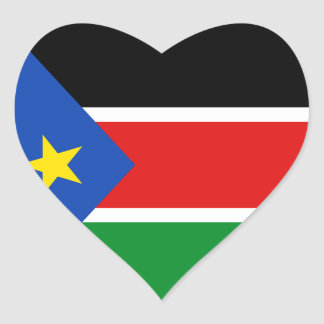 South Sudan Flag Heart Sticker