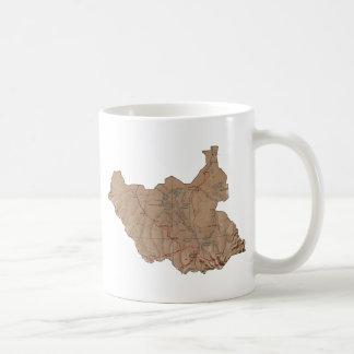South Sudan Flag ~ Map Mug