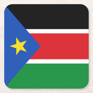 South Sudan Flag Square Paper Coaster