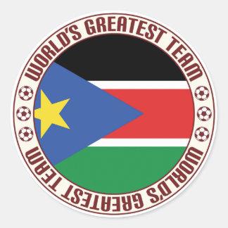 South Sudan Greatest Team Classic Round Sticker