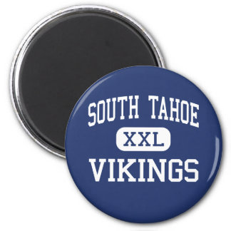 South Tahoe - Vikings - High - South Lake Tahoe 2 Inch Round Magnet