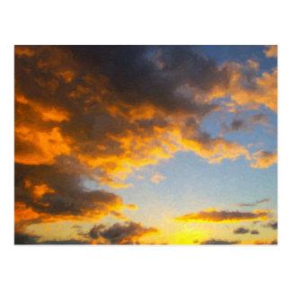 South Texas Plains Sunset Postcard
