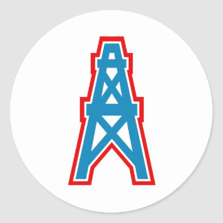 South Texas Youth Football League Alice Oilers Classic Round Sticker