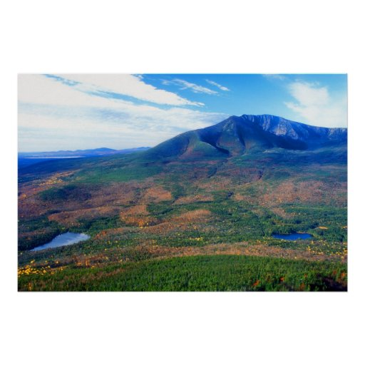South Turner Mountain Katahdin View Poster