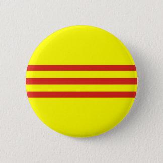 south vietnam ethnic flag 2 inch round button