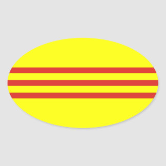 South Vietnam* Flag Oval Sticker