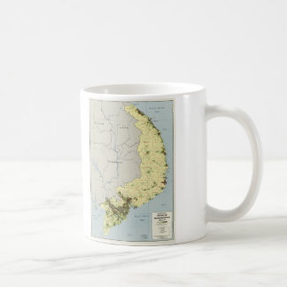 South Vietnam Map September 1972 Coffee Mug