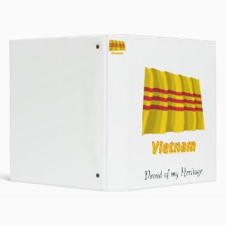South Vietnam Waving Flag with Name Binder