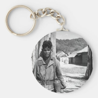 South Vietnamese soldier, 1966.  (USIA)EXACT DATE_ Basic Round Button Keychain