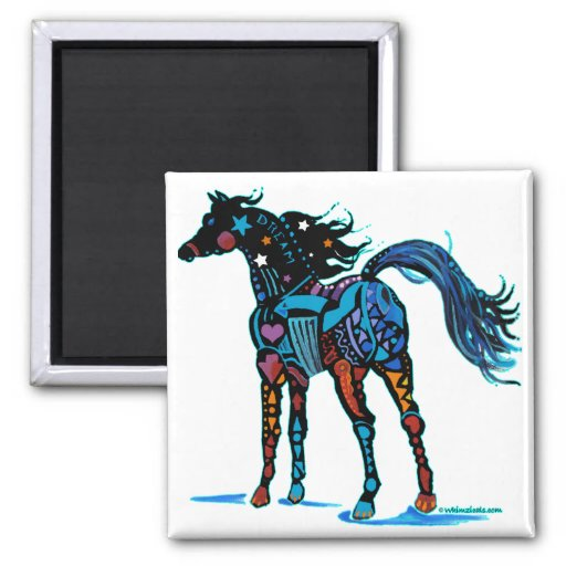 South West Horse in Brilliant Colors T Shirts Refrigerator Magnets