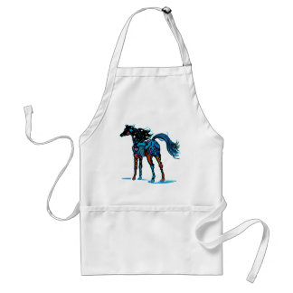 South West Horse in Brilliant Colors T Shirts Standard Apron