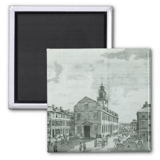 South West View of The Old State House Fridge Magnet