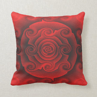South Western Desert Red Rose Style Throw Pillow