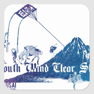 South Wind Clear Sky Square Sticker