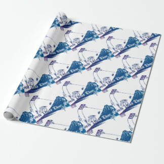 South Wind Clear Sky Wrapping Paper