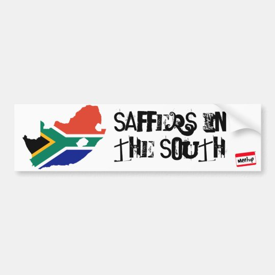 southafrica flag 3, meetup_logo_100_white_1, Sa... Bumper Sticker