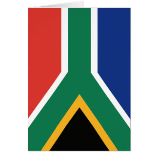 Southafrican flag card
