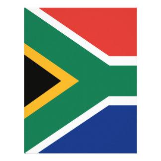 Southafrican flag customized letterhead