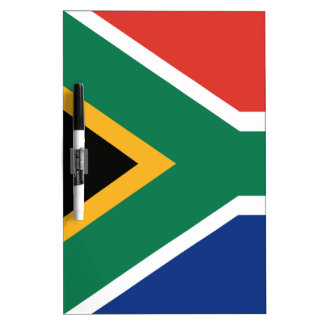 Southafrican flag dry erase board