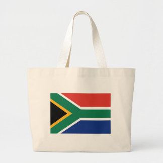 Southafrican flag large tote bag