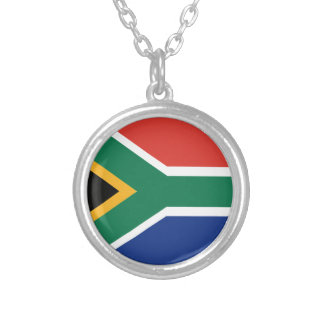 Southafrican flag silver plated necklace