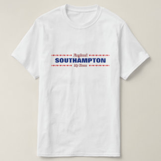 SOUTHAMPTON - My Home - England; Red & Pink Hearts T-Shirt