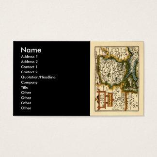 Southampton: Southamptonshire Hampshire County Map Business Card