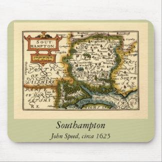 Southampton: Southamptonshire Hampshire County Map Mouse Pad