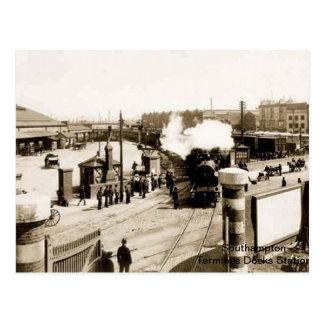 Southampton - station de terminus (docks) carte postale