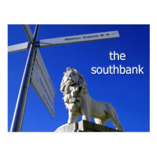 Southbank Lion postcard