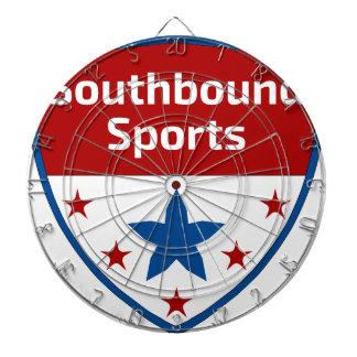 Southbound Sports Crest Logo Dartboard With Darts