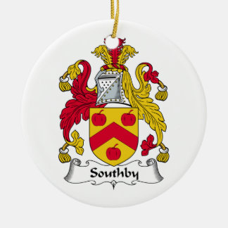 Southby Family Crest Round Ceramic Ornament