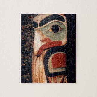 Southeast Alaska Wood Carved Totem Pole Jigsaw Puzzle