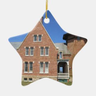 Southeast Lighthouse Building Block Island Ceramic Star Ornament