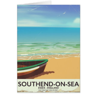 Southend-on-Sea, Essex Vintage travel poster Card